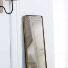 Tall Brushed Gold Thin Framed Wall Mirror / Leaner Mirror 42cm x 156cm