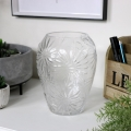 Tall Clear Glass Daisy Vase