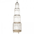 Tall Gold Birdcage Shelving Display Unit