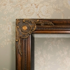 Tall Gold Wall Mirror 47cm x 142cm