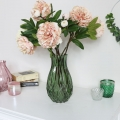 Tall Green Cut Glass Vase