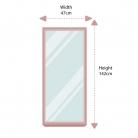 Tall Grey Wall Leaner Mirror 47cm x 142cm