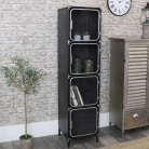 Tall Industrial Mesh Pipe Storage Cabinet