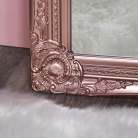 Tall Ornate Rose Gold Pink Mirror 47cm x 142cm