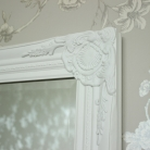 Tall Ornate White Mirror