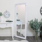 Tall Ornate White Wall / Leaner Mirror 60cm x 160cm