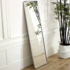 Tall Silver Wall / Floor / Leaner Mirror 47cm x 142cm