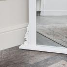 Tall White Ornate Vintage Wall / Leaner Mirror 80cm x 180cm