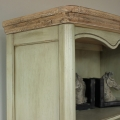 The Aston Range - Tall Distressed Effect Wooden Bookcase - with drawers
