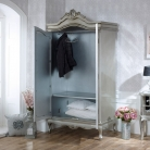 Tiffany Range - Furniture Bundle, Mirrored Double Wardrobe, Chest of Drawers and Pair of Bedside Chests