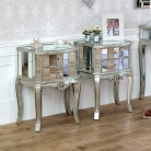 Tiffany Range - Furniture Bundle Pair of Mirrored 2 Drawer Bedside Tables
