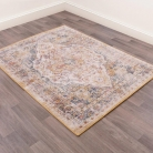 Traditional Rug in Gold and Cream 120cm x 170cm