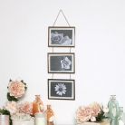Triple Copper Photo Frame