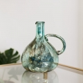 Turquoise Decorative Glass Vase
