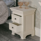 Cream Two Drawer Bedside Chest - Daventry Cream Range