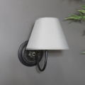 Vintage Black & Grey Wall Light
