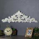 Vintage Cream Fleur De Lys Wall Plaque