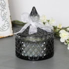 Vintage Grey Glass Scented Candle