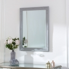 Grey Ornate Wall Mirror -  82cm x 62cm