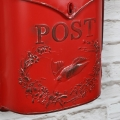 Vintage Red Wall Mounted Metal Post Box
