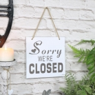 Vintage Reversible Open/Closed Door Sign