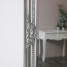 Vintage Silver Ornate Wall Mirror 74cm x 90cm