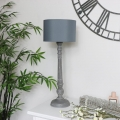 Vintage Style Table Lamp - Grey