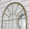 Wall Mounted Rustic Arched Window Mirror
