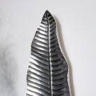Wall Mounted Silver Slim Leaf  Candle Sconce