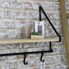 Wall Shelf with Hanging Hooks