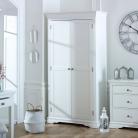 White 2 Door Wardrobe - Newbury White Range