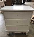White 3 Drawer Chest of Drawers - Lila Range DAMAGED SECOND 3865