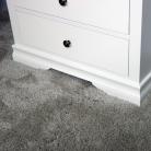 White 3 Drawer Chest of Drawers - Newbury White Range