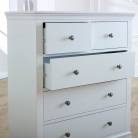 White 5 Drawer Chest of Drawers - Newbury White Range