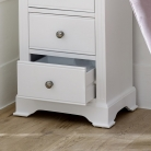 White 5 Drawer Tall Boy Chest - Davenport White Range