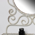 White Bathroom Mirror with Basket