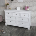 White Bedroom Furniture, Double Wardrobe, Large Chest of Drawers, Dressing Table Set and Pair of Bedside Chests - Daventry White Range