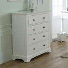 White Bedroom Furniture, Wardrobe, Chest of Drawers, Bedside Tables & Dressing Table Set - Davenport White Range