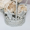 White Crown Planter / Candle Holder