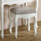 White Dressing Table, Mirror, Stool Set - Victoria Range