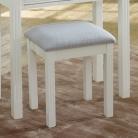 White Dressing Table Stool - Davenport White Range