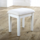 White Dressing Table Stool - Newbury White Range
