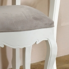 White Dressing Table Stool - Victoria Range