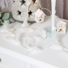 White Feathered Jewelled Garland