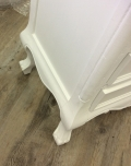 White French Style Bedside Table / Chest - Elise White Range DAMAGED SECOND 2689