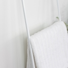 White Metal Towel Ladder Storage