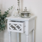 White Mirrored 1 Drawer Bedside