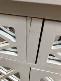 White Mirrored Cupboard Unit - IMPERFECT SECONDS 7654