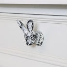 White Rabbit Head Drawer Knob