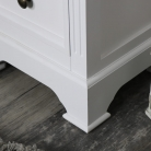 White Vintage Bedside Table - Daventry White Range